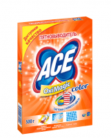 Пятновыводитель ACE Oxi Magic 500г Color,порошок